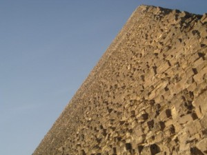 One of the pyramid's of Giza